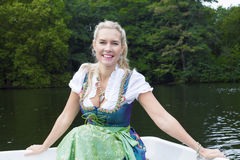 Blonde woman in dirndl Royalty Free Stock Photo