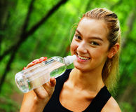 Blonde Woman Exercising Stock Photography