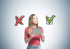 Blonde woman with a folder, choice stock photos