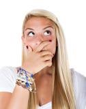 Blonde woman idea Stock Images