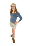Blonde Woman Mini Skirt Royalty Free Stock Photo