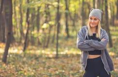 Beautiful woman portrait in autumn. model concept stock images