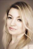 Blonde woman portrait Stock Photos