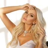 Blonde woman portrait Stock Photography