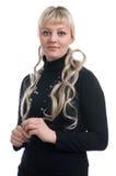 Blonde woman portrait Stock Image