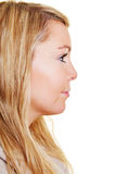 Blonde woman in profile view Royalty Free Stock Images