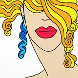 Blonde woman's face Royalty Free Stock Images