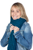 Blonde woman with a scarf Stock Photos