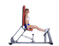 Free Blonde Woman Sitting  On Isodynamic Exerciser Stock Photos - 29175743
