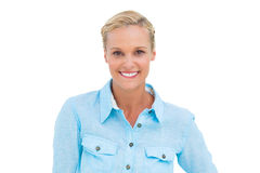 Blonde woman smiling at camera Stock Photography