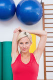 Blonde woman working out Stock Photography