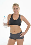 Blonde woman - workout Stock Photo