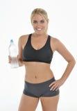 Blonde woman - workout Stock Photo