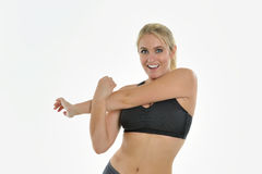 Blonde woman - workout Stock Photography