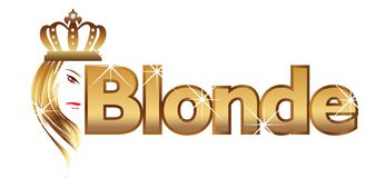 Blonde word Stock Photography