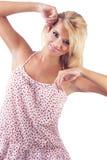 Blonde wundervolle Frauen Lizenzfreie Stockbilder