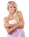 Blonde wundervolle Frauen Lizenzfreies Stockfoto