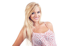Blonde wundervolle Frauen Stockfotos