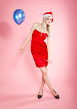 Blonde xmas girl Royalty Free Stock Photo
