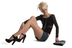 Blonde young lady Royalty Free Stock Image