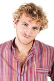 Blonde young man stock photography