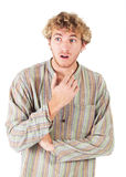 Blonde young man Royalty Free Stock Images