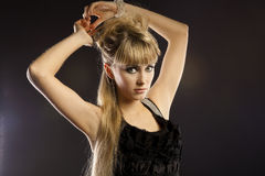 Blonde young woman Royalty Free Stock Images
