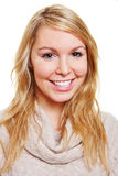 Blonde young woman with long hair Royalty Free Stock Images