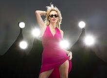 Blonde Zahl Modell Stockfotos