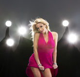 Blonde Zahl Modell Stockbilder