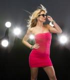 Blonde Zahl Modell Lizenzfreies Stockfoto