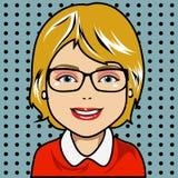 Blonde Zeichentrickfilm-Figur Stockfoto