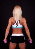 Blonder Athlet von hinten Stockfotos