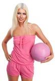 Blonder Basketball des Zaubers Lizenzfreies Stockfoto