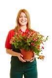Blonder Florist oder Gärtner Lizenzfreies Stockbild
