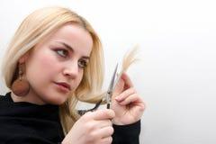 Blonder Frauenhaarschnitt Lizenzfreie Stockfotos
