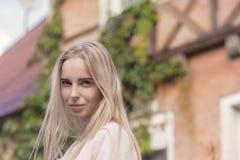 Blonder Frauentourist Lizenzfreie Stockbilder