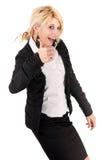 Blonder Geschäftsfrauerfolg Stockfoto
