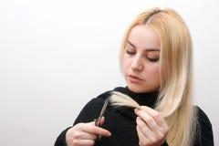 Blonder Haarschnitt Lizenzfreie Stockbilder