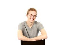Blonder jugendlich Junge Lizenzfreies Stockfoto