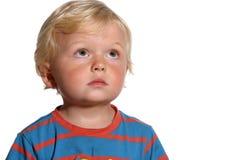 Blonder Junge mit zwei Jährigen Lizenzfreies Stockfoto