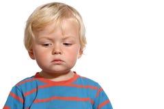 Blonder Junge mit zwei Jährigen Lizenzfreie Stockbilder