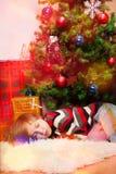 Blonder Junge verschlief Sankt Stockfotografie