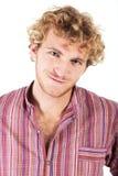 Blonder junger Mann Stockfotografie