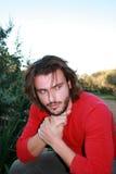 Blonder junger Mann Lizenzfreies Stockfoto