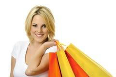 Blonder Käufer Lizenzfreies Stockfoto