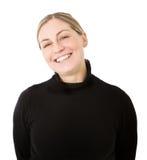 Blonder lächelnder Abschluss oben Stockfotos