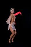 Blonder lateinischer Tänzer Lizenzfreie Stockfotos