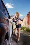 Blonder Mädchentramper Lizenzfreie Stockfotografie