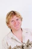 Blonder Mann. Lizenzfreies Stockfoto
